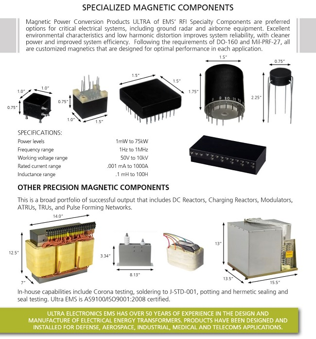 Ultra Electronics Magnetics Components
